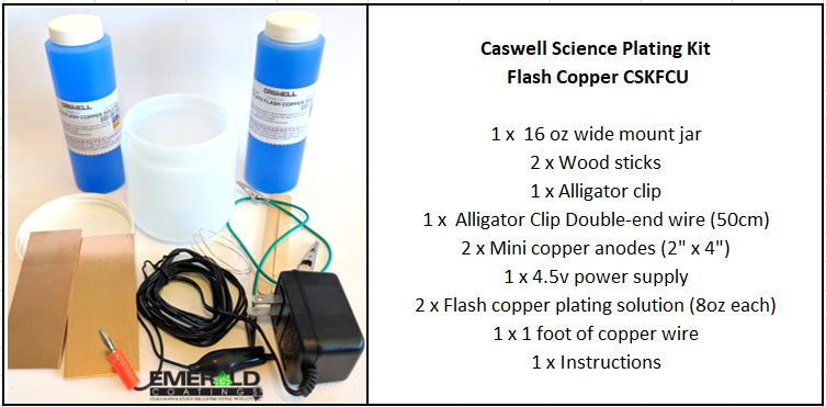 Caswell Science Plating Kit Bronze Plating