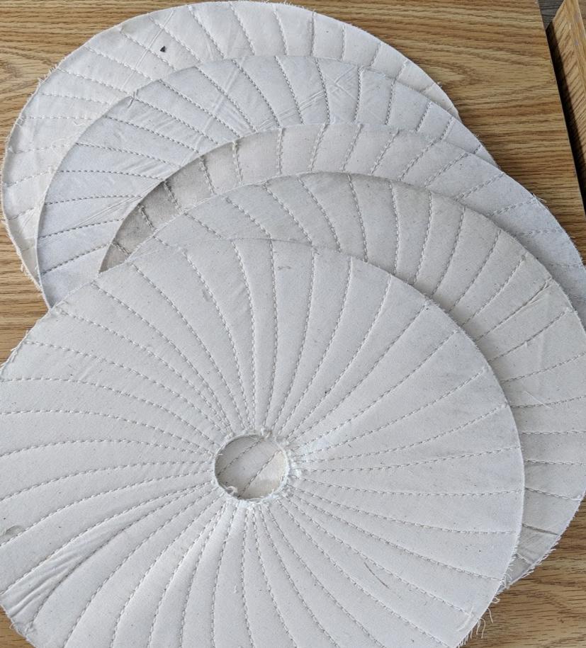 "Spiral sewn 12"" x 1/4"" wheel (5 pack)"