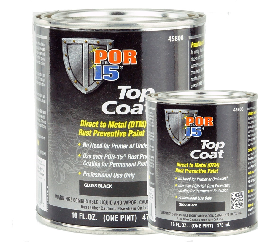 POR-15® Top Coat Gloss Black