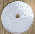 "Spiral sewn 12"" x 1/4"" wheel"